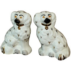 "Pair of English Beswick Pottery ""Staffordshire"" Small Mantle Dogs"