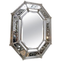 Late 19th or Early 20th Century Venetian Mirror