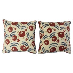 Throw Pillows with Wightwick Embroidery