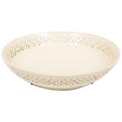 18th Century Pierced Creamware Bowl England circa 1780