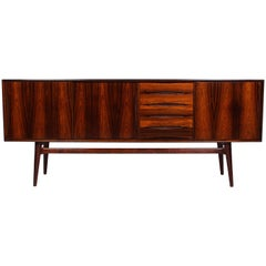 Midcentury Danish Rosewood Sideboard with Sliding Doors, 1950s