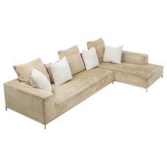 George Beige Corner Sofa by Antonio Citterio for B&B Italia