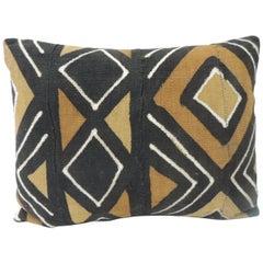 Vintage Graphic African Artisanal Textile Mudcloth Decorative Bolster Pillow