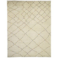 Contemporary Moroccan Style Rug with Organic Modern Style