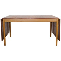 Midcentury Børge Mogensen Teak & Oak Dining Table, 1950s