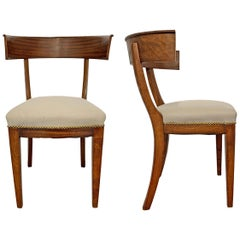 Pair of 20th Century Swedish Klismos Chairs