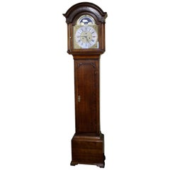 Mid-18th Century Eight Day Oak Longcase Clock by John Taylor of Manchester