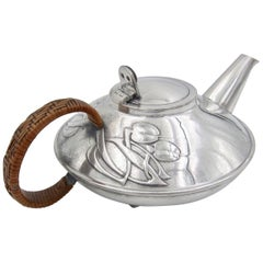 Archibald Knox Tudric Pewter Teapot for Liberty & Co.