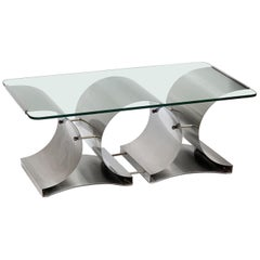 Mid-Century Modern Coffee Table by Francois Monnet, France, 1970s