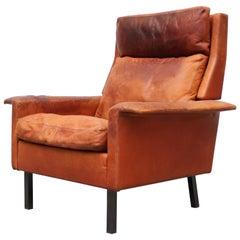 Arne Vodder for Fritz Hansen Leather Lounge Chair