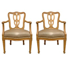 Pair of Early 20th Century Italian Armchairs