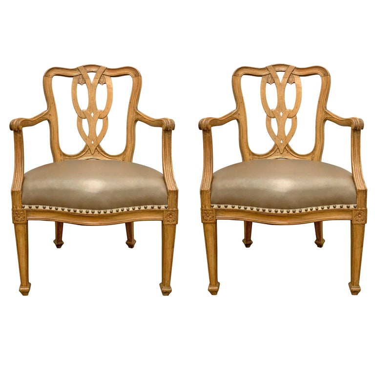 Pair of Early 20th Century Italian Armchairs For Sale
