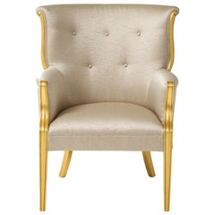 Swedish 1940s Gilded Club Chair