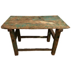 Beautiful Rustic Late 19th Century Sabino Farm Table Found in Western México