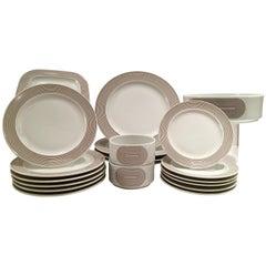 1970'S Modern German Porcelain Dinnerware 'Joy One' Set of 20 By, Rosenthal