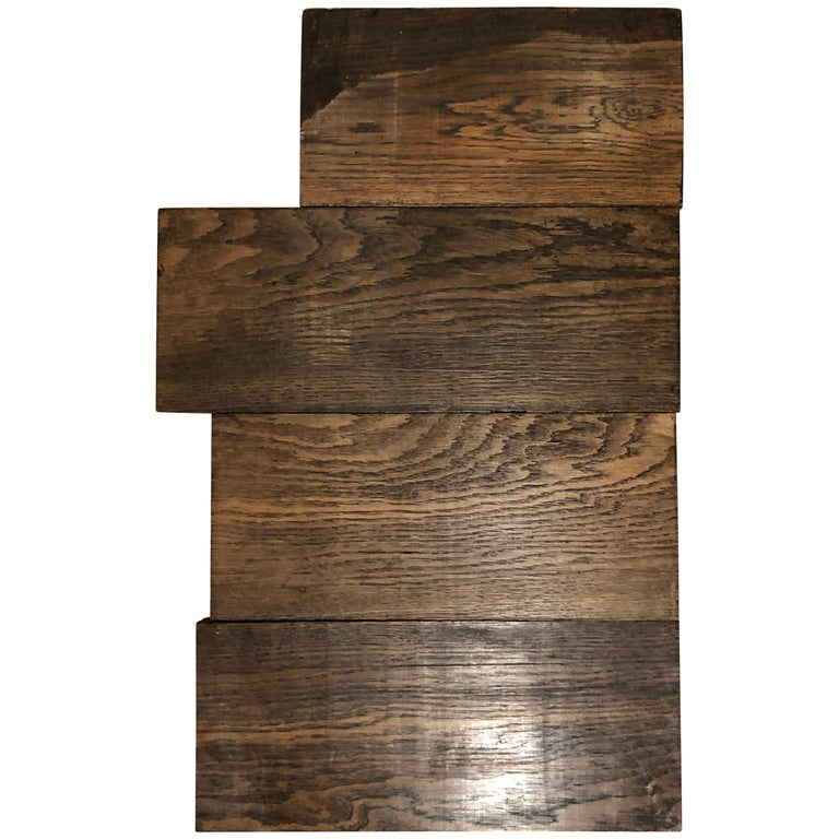 Original French Antique Solid Wood Oak Floors 18th Century, France For Sale