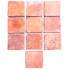 Original French Antique Square Terracotta Flooring, 18th-19th Century