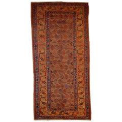 Handmade Antique Kurdish Style Rug, 1880s, 1B413