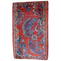 Handmade Antique Mahal Vagireh Style Rug, 1900s, 1B485