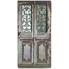 French Antique Solid Wood Door 19th Century, France