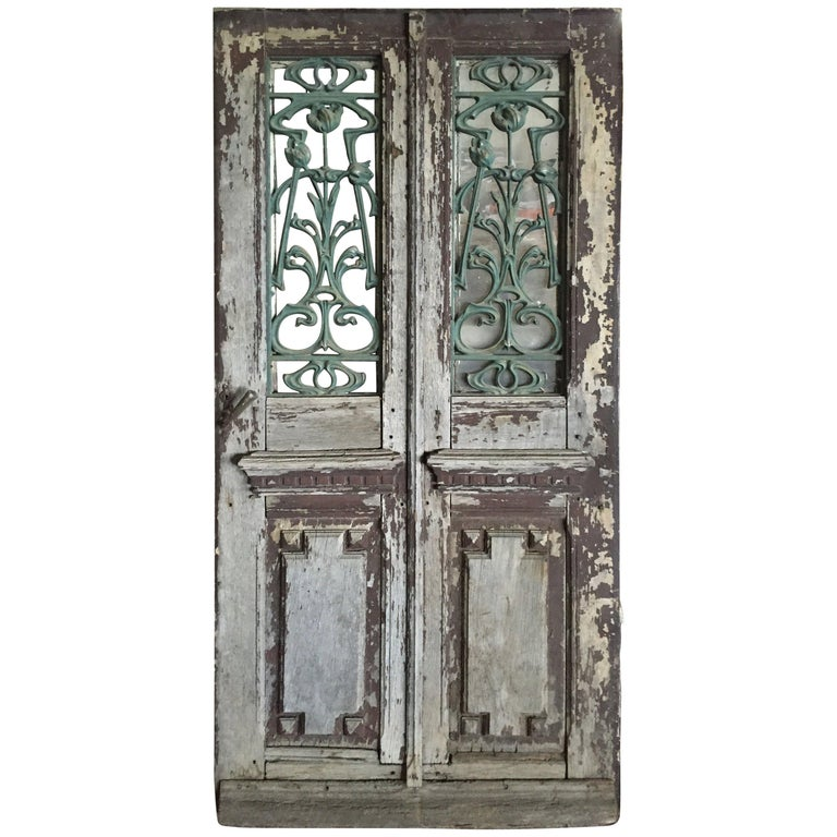 French Antique Solid Wood Doors 19th Century France For