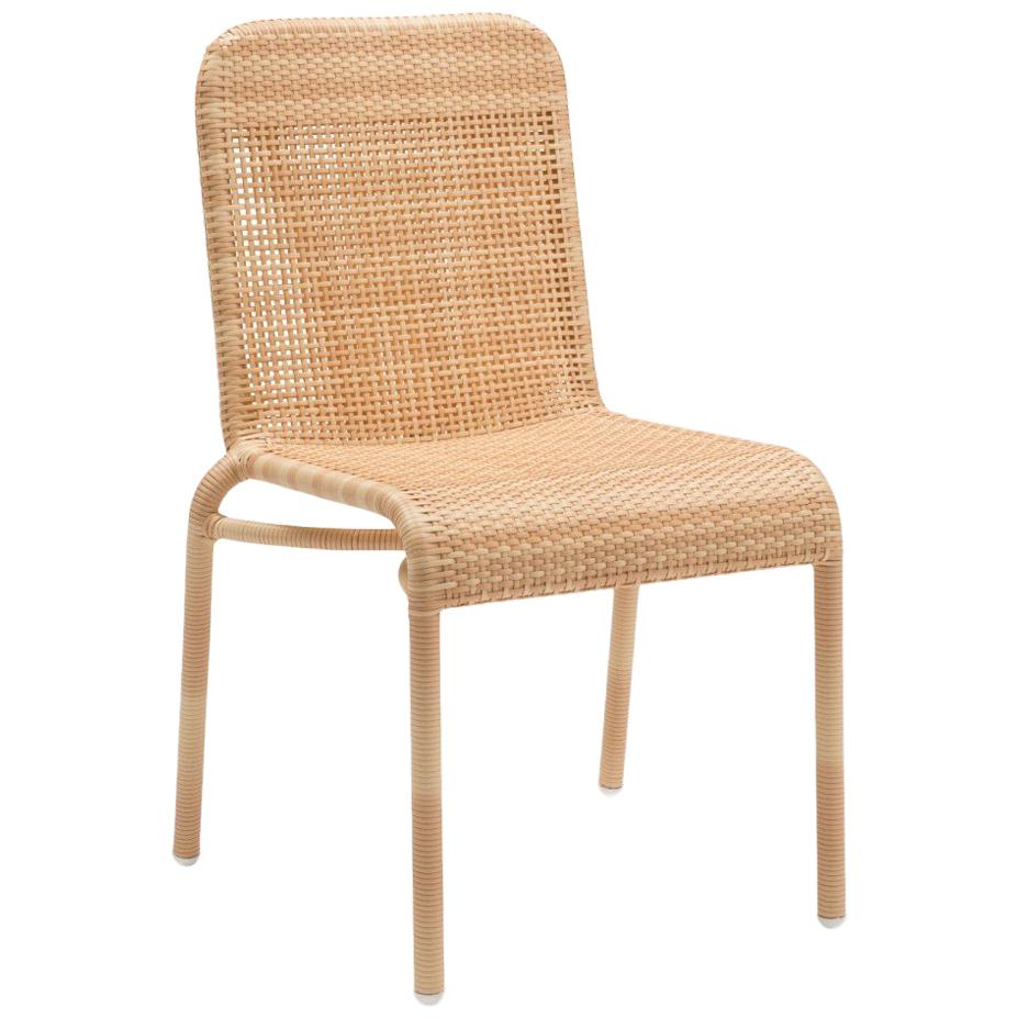 French Design and Braided Resin Rattan Effect Outdoor Chair