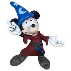 1980s Walt Disney Mickey Mouse Sorcerer's Apprentice Statue in Fiberglass