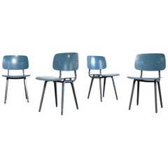 Friso Kramer Blue Revolt Chairs for Ahrend de Cirkel, Netherlands
