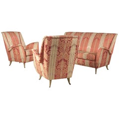I.S.A. Sofa Set in Original Condition, Italy, 1950s