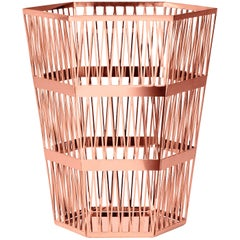 Ghidini 1961 Tip Top Large Paper Basket in Rose Gold by Richard Hutten