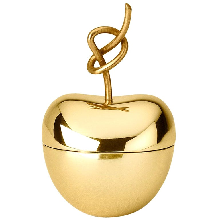 Ghidini 1961 Knotted Cherry Small Box in Brass by Nika Zupanc For Sale