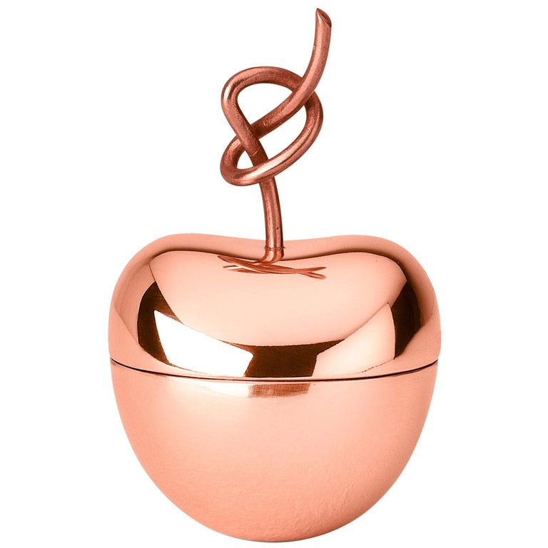 Ghidini 1961 Knotted Cherry Medium Box in Copper-Plated Brass by Nika Zupanc For Sale