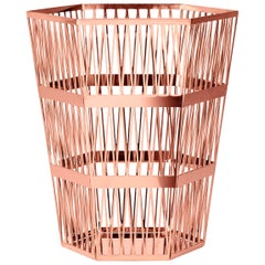 Ghidini 1961 Tip Top Small Paper Basket in Rose Gold by Richard Hutten