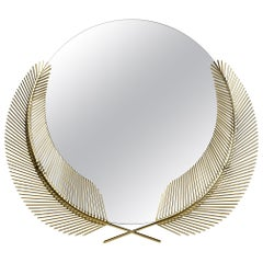 Ghidini 1961 Sunset Small Mirror in Brass by Nika Zupanc