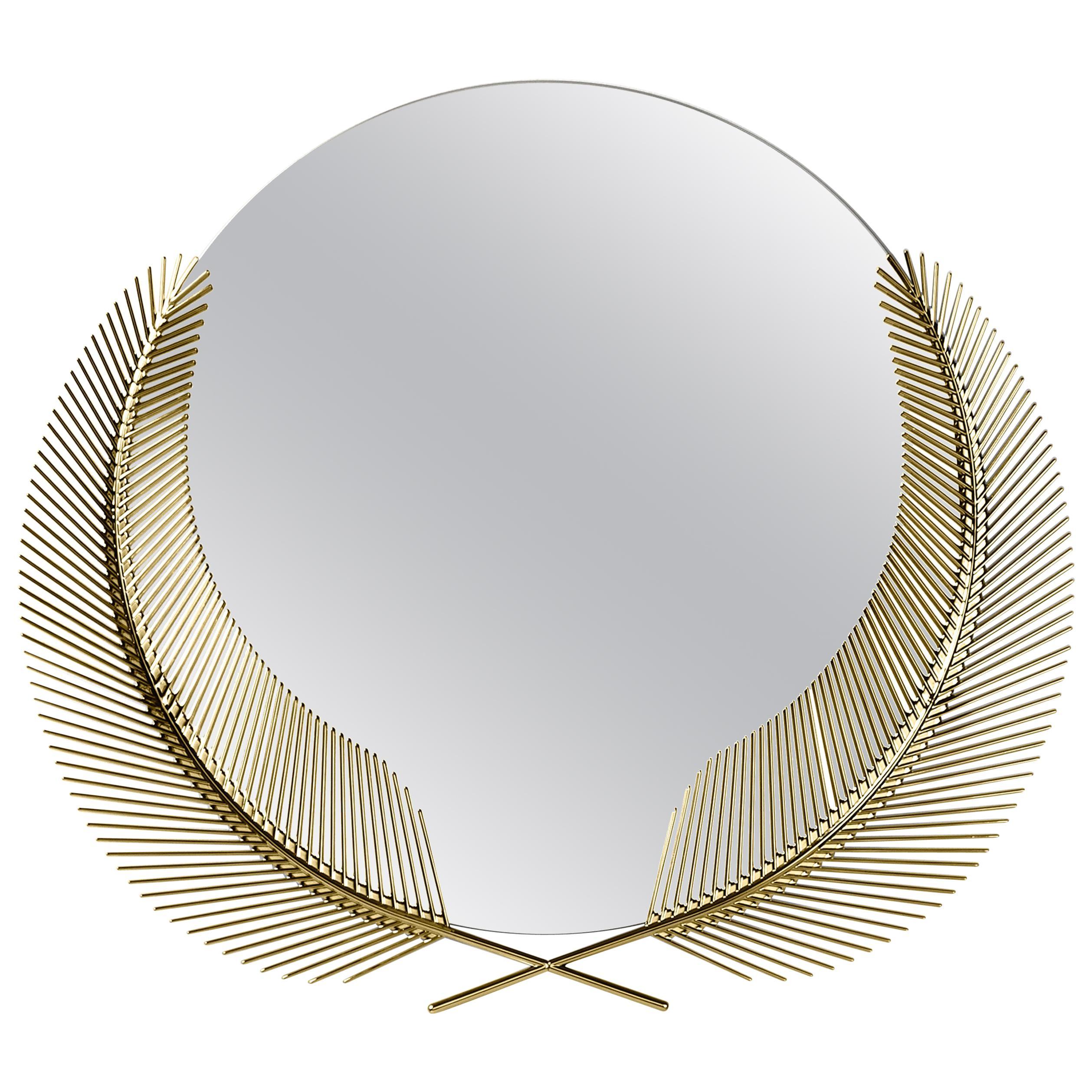 Ghidini 1961 Sunset Medium Mirror in Brass by Nika Zupanc