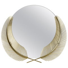 Ghidini 1961 Sunset Medium Mirror in Brass by Nika Zupanc