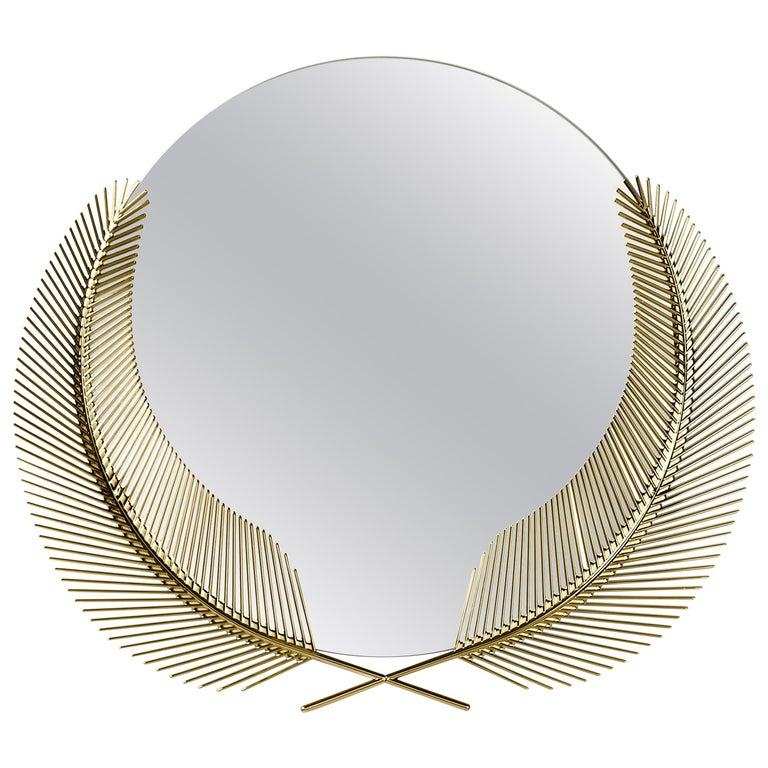 Ghidini 1961 Sunset Medium Mirror in Brass by Nika Zupanc For Sale