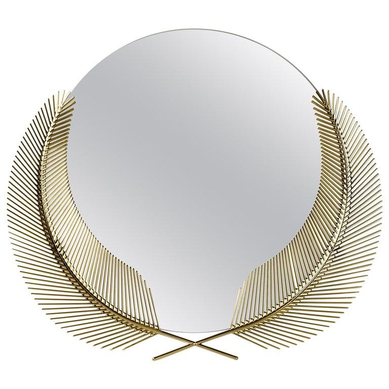 Ghidini 1961 Sunset Medium Mirror in Brass by Nika Zupanc For Sale
