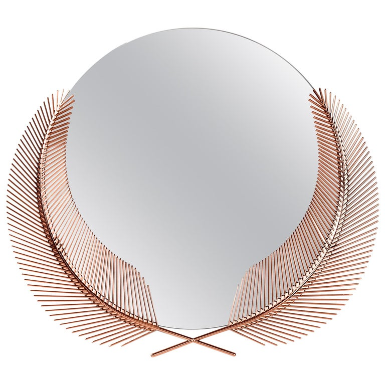 Ghidini 1961 Sunset Small Mirror in Copper-Plated Brass by Nika Zupanc For Sale