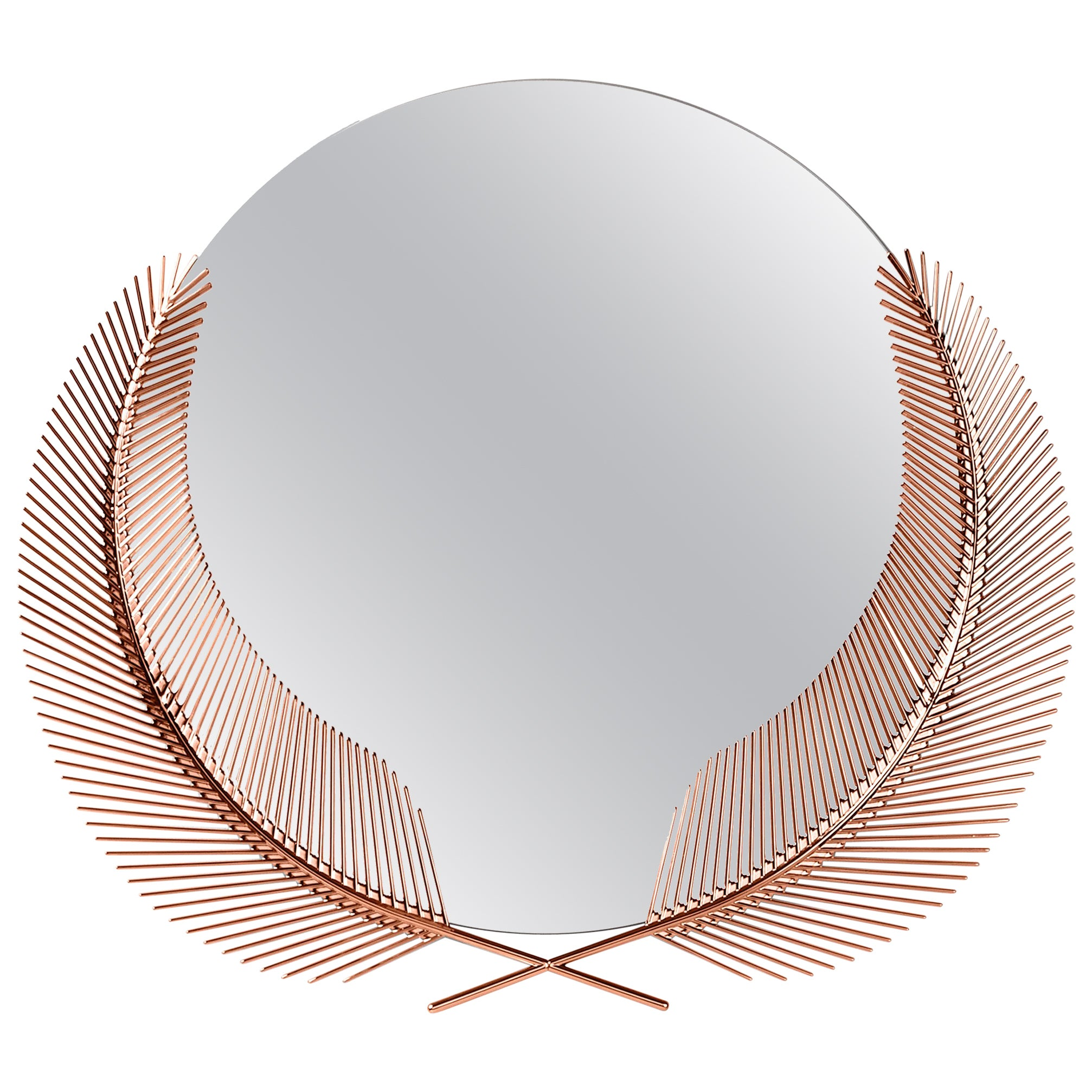 Ghidini 1961 Sunset Small Mirror in Copper-Plated Brass by Nika Zupanc