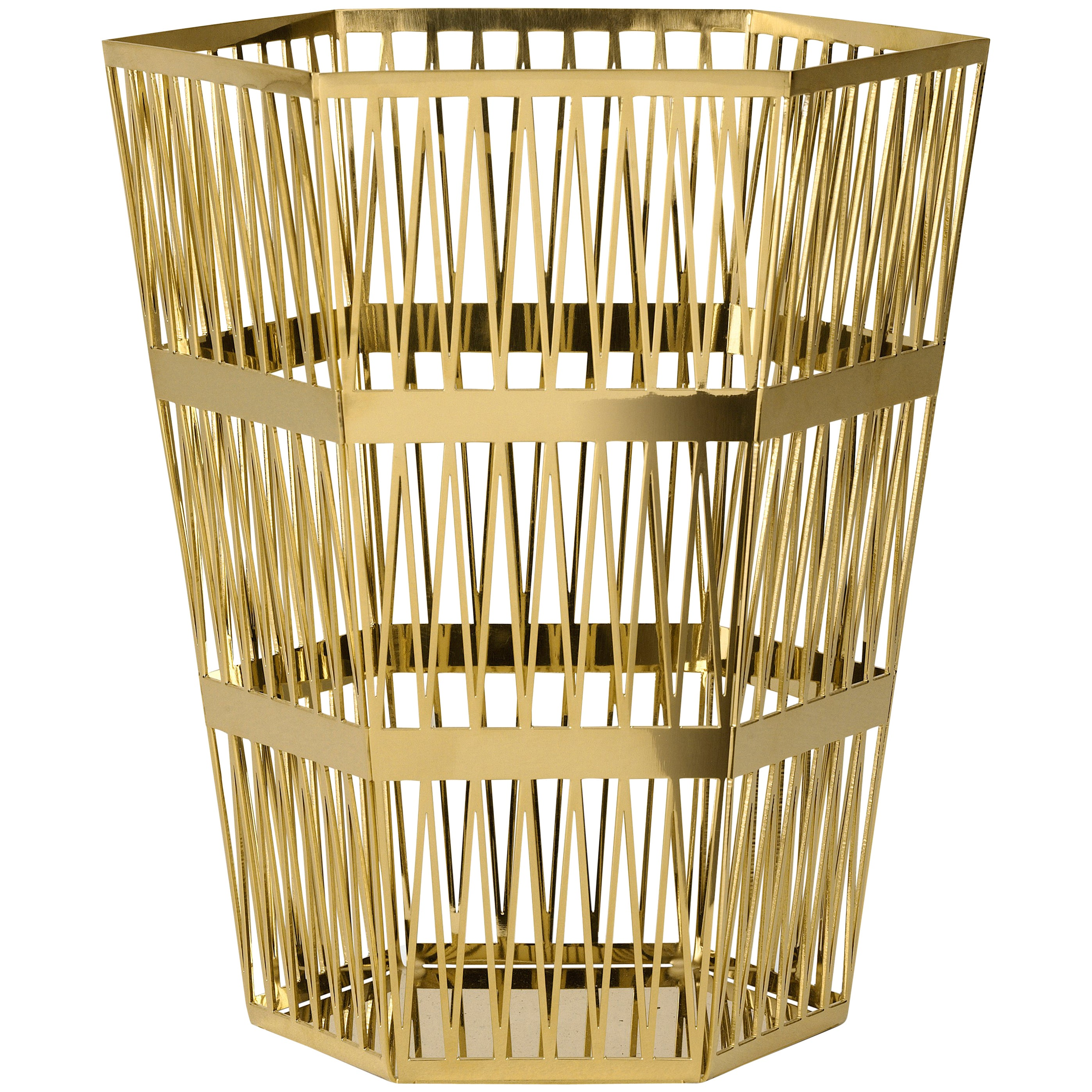 Ghidini 1961 Tip Top Large Paper Basket in Gold by Richard Hutten
