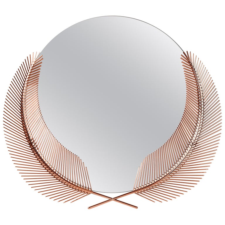 Ghidini 1961 Sunset Medium Mirror in Copper-Plated Brass by Nika Zupanc For Sale