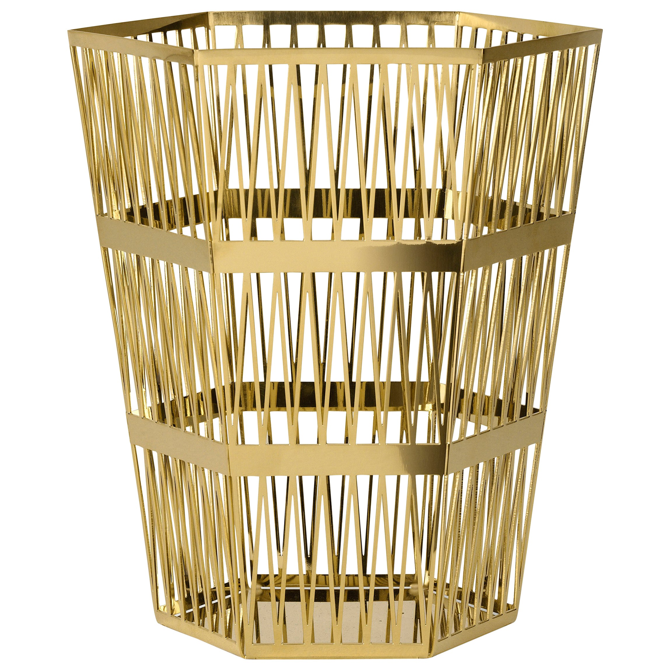 Ghidini 1961 Tip Top Small Paper Basket in Gold by Richard Hutten