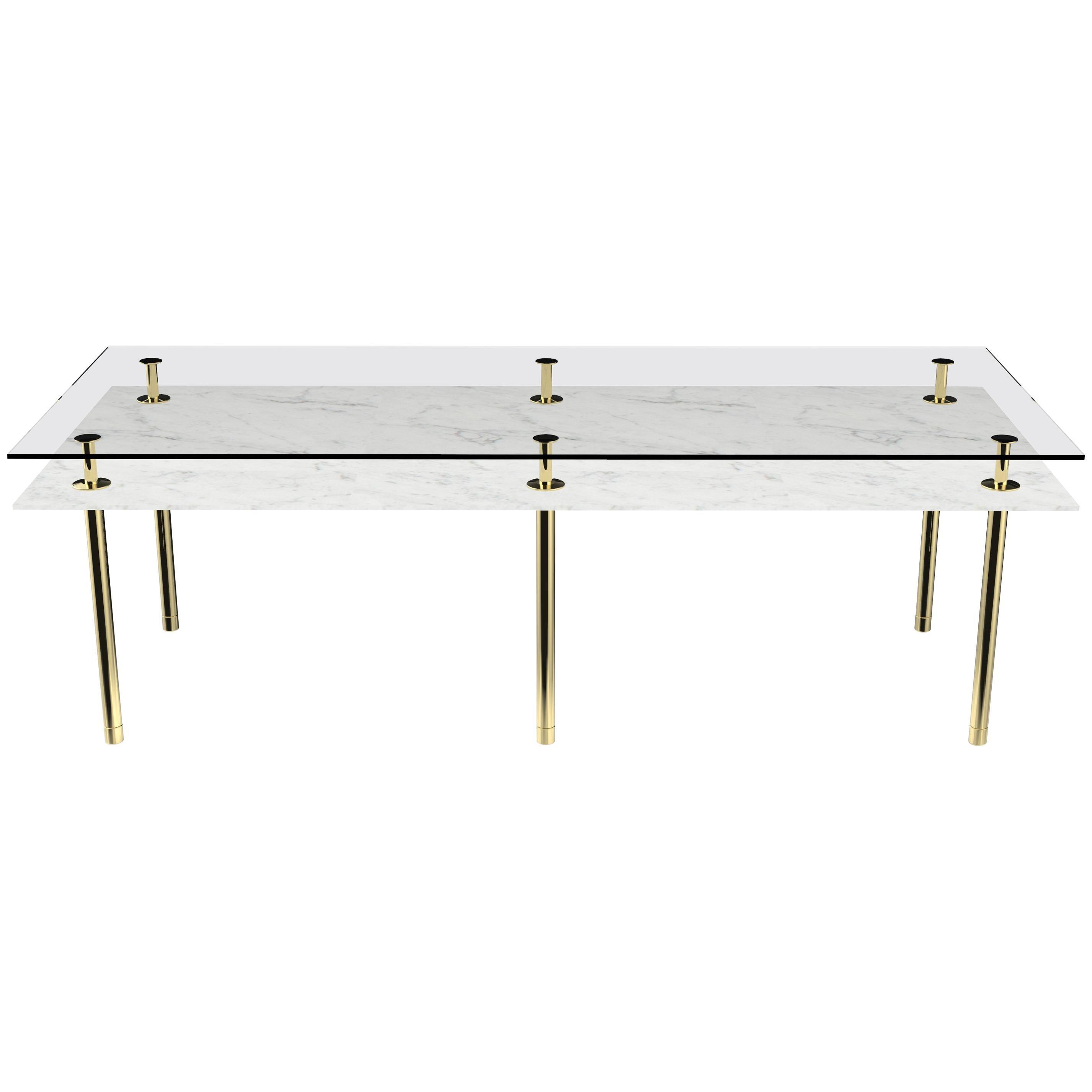 Ghidini 1961 Legs Dining Table in Carrara White by Paolo Rizzatto