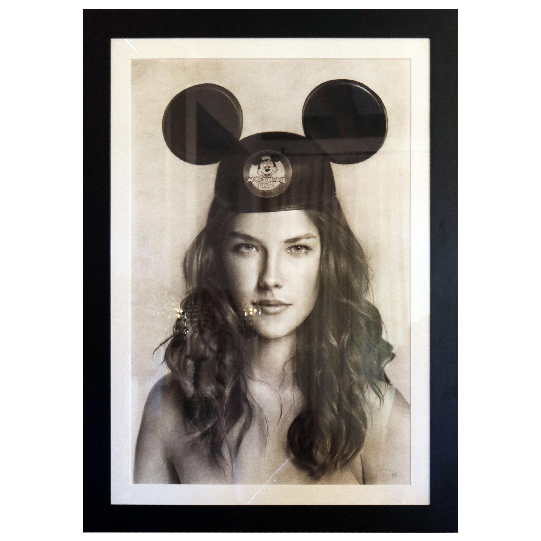 """Nantawang """"Mickey"""", 2010 Hyperrealist Drawing of Actress Alessandra Ambrosio"""