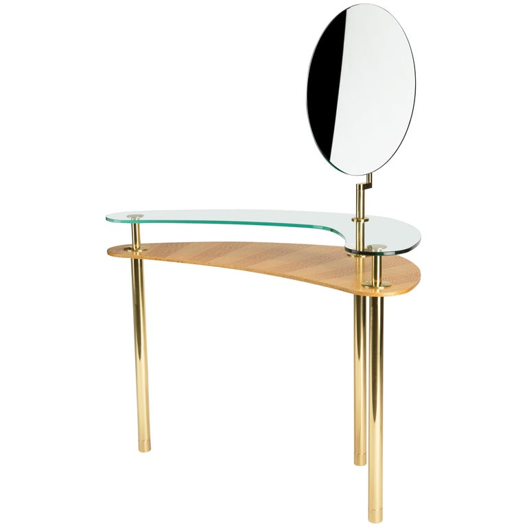 Ghidini 1961 Legs Dressing Table in Citronnier Wood by Paolo Rizzatto For Sale