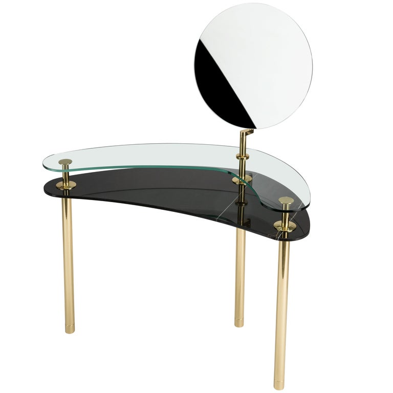 Ghidini 1961 Legs Dressing Table in Sahara Noir by Paolo Rizzatto For Sale