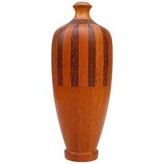 Unique Art Deco Timber Vase, circa 1930s