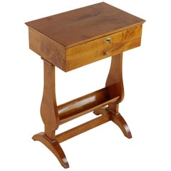 19th Century Biedermeier Period Maplewood Side Table Sewing Table, 1820-1830