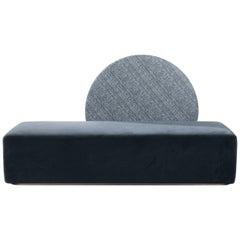 Horizon Sofa Velvet Upholstery Brass Large Size